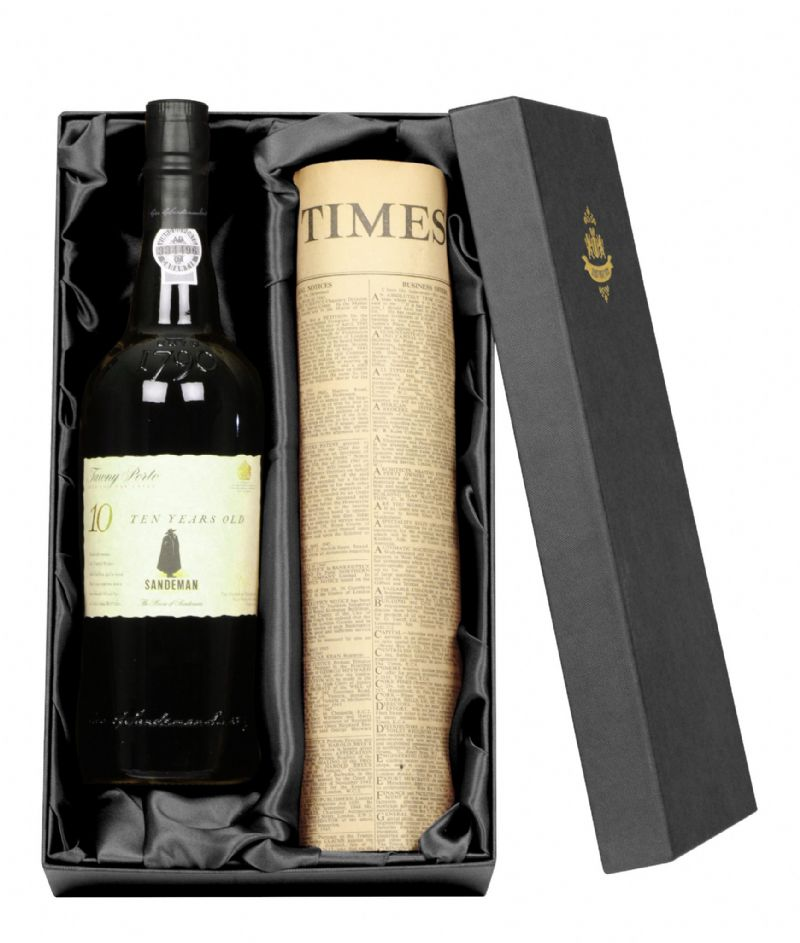 10 Year Old Tawny Portt & Newspaper Gift Set | Perfect Gift for a loved one